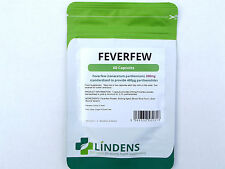 LINDENS FEVERFEW 200MG X 60 CAPSULES PAIN RELIEF JOINT TENSION HEALTH SUPPLEMENT