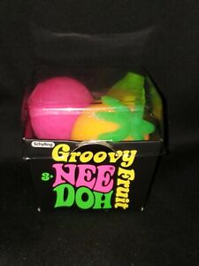 Groovy Fruit Nee Doh Stress Ball Squeeze Fidget Toy by Schylling Rare New Sealed