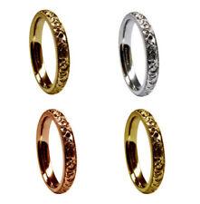 Anillos de joyería de metales preciosos sin piedras rojas en oro amarillo
