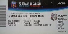 TICKET UEFA CL 2013/14 Steaua Bukarest - Dinamo Tbilisi
