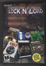 LOCK N'LOAD SIX GAMES IN ONE COMMANDOS SPEC OPS II IGI PC CD-ROM 2001 PIER57