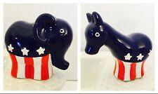 New! Nora Fleming Retired GOP Elephant & Democrat Donkey Set Of Minis