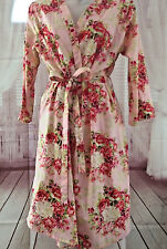 BRIDAL BRIDES MAID PINK FLORAL SMALL ROBE BY THE PAISLEY BOX LIGHTWEIGHT
