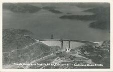 Shasta Dam CA * Dam and Lake ca. 1940 * Eastman's Studio RPPC #B-4356