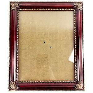 Victorian Style Photo Picture Frame Red Gold Gilt Tassels 8 x 10 Library Vintage