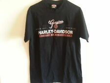 "Harley Davidson Genuine black T shirt ""Accept No Substitutes"" - mens medium"