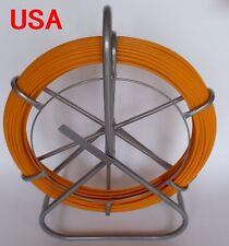 Fish Tape Fiberglass Wire Cable Running Rod Duct Rodder Puller 6mm 130Meters