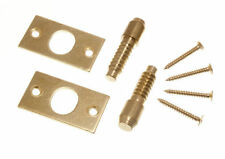 Pk of 6 Security Hinge Bolts Eb Brass Plated Steel With Fixing Screws