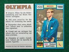 OLYMPIA 1972 n.243 MATTHES GERMANIA DDR NUOTO , Figurina Sticker Panini (NEW)