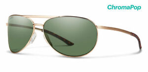 Smith Serpico Slim 2.0 Women Sunglasses Matte Gold/Chromapop Polarize Gray Green