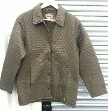GREAT LADIES BARBOUR L210 TAILORED F/WT QUILT JACKET SIZE 12 GREEN Z30