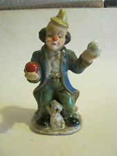 Greenbrier International Ceramic Hobo Clown with Dog, Vg Condition (Gs12-4)