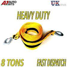 8000kg 8t 3m remolque remolque Cuerda de tracción Correa Heavy Duty carretera recuperación coche van + Bolsa