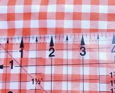 ORANGE Gingham 100% Polyester FABRIC 1 YARD 8