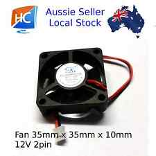 Brushless Case Fan 35mm x 35mm x 10mm 2pin 12V Cooling Fan - Aussie Seller