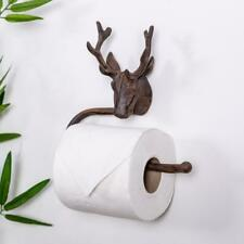 Antique Bronze Stag Toilet Roll Holder Ornate Shabby Vintage Chic Wall Bathroom