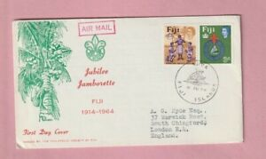 Fiji Boy Scout Jubilee Jamboree Cover, First Day Cover, Suva 1964
