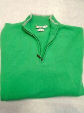 Peter Millar 100% Cashmere Green Quarter Zip Sweater NWOT Medium $325