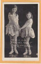 Real Photo Advertising Postcard RPPC - Girls Wearing Jean Carol Frocks