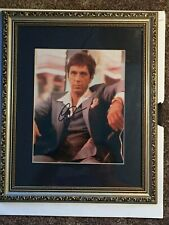 Al Pacino Autographed 11x14 Scarface Photo Tony Montana Suit - PSA/DNA 2 Framed