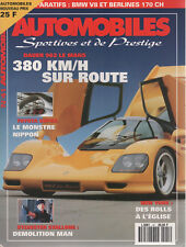 AUTOMOBILES SPORTIVES ET DE PRESTIGE 41 DAUER 962 LM SAFRANE BITURBO LISTER STOR
