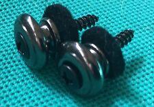 ESP Ltd F-50 Electric Guitar Original Cosmo Black Chrome Strap Buttons Set