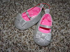 JUST ONE YOU YEAR BY CARTERS NB SILVER GLITTER SHOES INFANT BABY