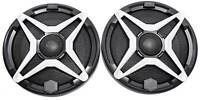 "SSV WP-A6 6.5"" Waterproof Speakers+White Grilles for Polaris RZR/ATV/UTV/Jeep"