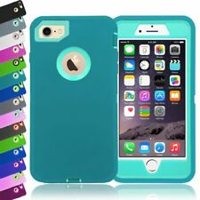 Heavy Duty Full Armour Builder Impact Work Workman Cover Case for iPhone 8 7 Blue ( Blue Inside) A00845
