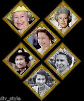 Diamond Jubilee Her Majesty Queen Elizabeth II set 6 mnh stamps Gibraltar 2012