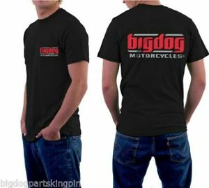BIG DOG MOTORCYCLES XL SHIRT SHORT SLEEVE BLACK W/ SIGNATURE LOGO FRONT/BACK