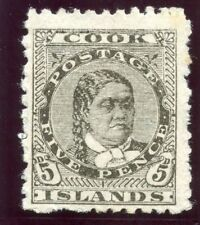 Cook Islands 1902 KEVII 5d olive-black MLH. SG 33. Sc 35.