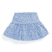 New ex Chainstore Jojo Ditsy Floral Print Skort Skirt Blue & Red RRP £15 0-6yrs
