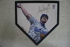 Eric Gagne Los Angeles Dodgers HOF signed Hand Painted MLB Home plate