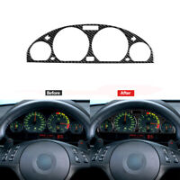 Carbon Fiber Instrument Dashboard Panel Cover Trim For BMW 3Series E46 1998-2005
