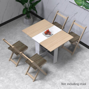 Rectangle Folding Dining Table Wooden Kitchen Dining Room Furniture