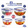 Lock & Fresh Food Storage Container Boxes Set Clip Lid Leak Proof Durable Safe