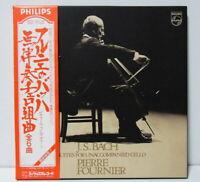 PIERRE FOURNIER - BACH - SUITES FOR UNACCOMPANIED CELLO JAPAN 3 LP with OBI