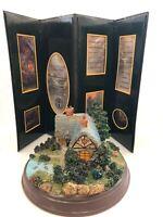 Kinkade A Quiet Evening Hawthorne Village Lighted Sculpture w/ Box Picture Frame