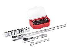 "GearWrench 45pc 1/4""dr Slim Head Ratchet Bit and Socket Mechanics tool Set 81032"