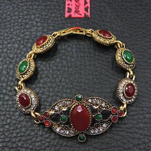 Betsey Johnson Fashion Jewelry Vintage Red Gemstone Bangle Bracelet