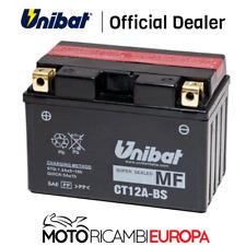 BATTERIA UNIBAT CT12A-BS=YT12A-BS 12V KYMCO DOWNTOWN 125-300 2009 2010/2015