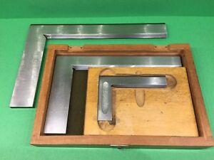 "3  High Precision steel squares & 12""  Straight Edge"