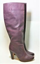 ALDO SHOES PURPLE GENUINE LEATHER KNEE HIGH BOOTS PULL ON 39