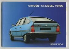 (94) NOTICE D'EMPLOI CITROEN CX DIESEL TURBO