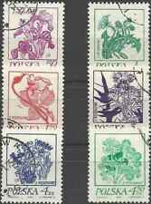 Timbres Flore Pologne 2136/41 o lot 24303