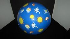 "Avon Sun, Inflatable 12"" Beach Ball, New In Package W/ Vinyl Repair Kit, Fun Sun"