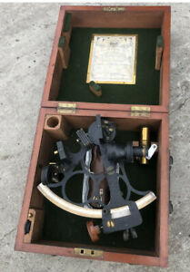 OLD HUSUN SHIPS SEXTANT - JOHN LILLEY & SON NORTH SHIELDS - IN WOODEN BOX