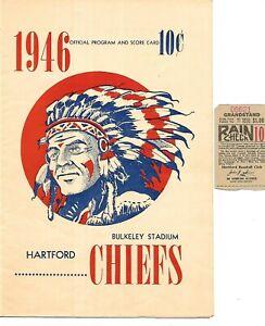 1946 Hartford Chiefs-Scranton Red Sox Program Battle of Boston Farm Clubs!!