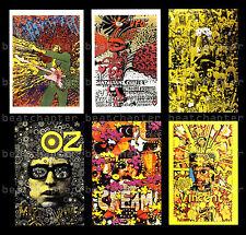 MARTIN SHARP Psychedelic Postcards Bob Dylan Jimi Hendrix Dantalians Chariot UFO